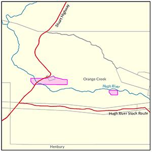 Orange Creek locality map