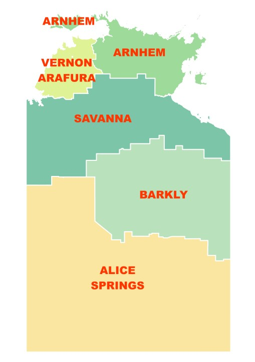 Bushfire NT regions