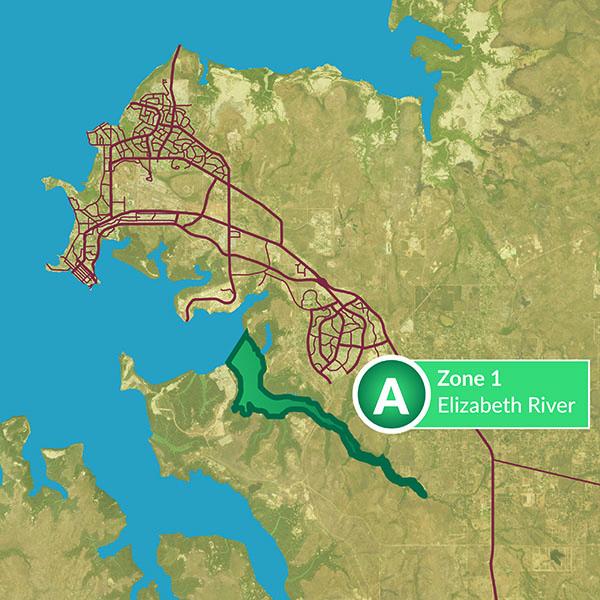 Zone 1 Elizabeth River map