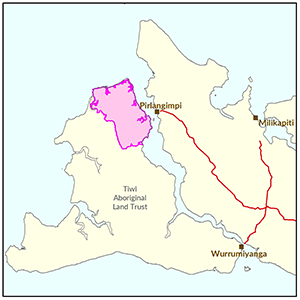 North East Bathurst Island locality map