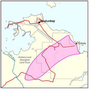 Nhulunbuy locality map