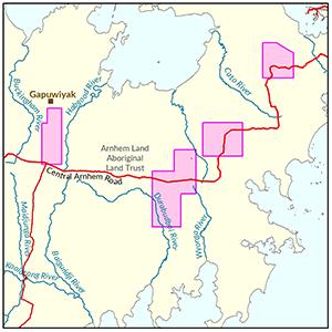 East Arnhem locality map