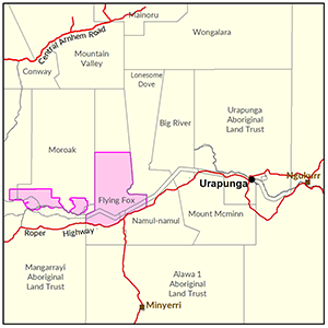 Lower Roper locality map