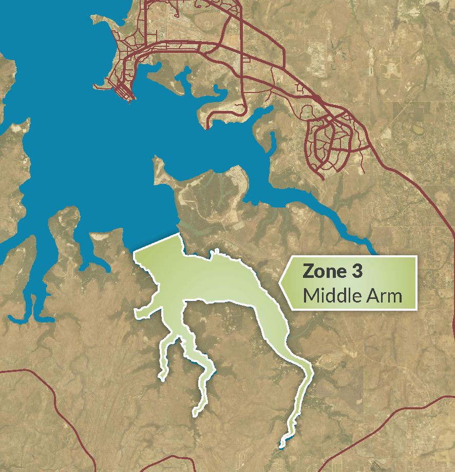 Zone 3 - Middle Arm map 2020