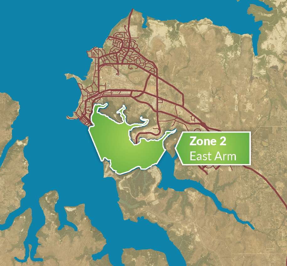 Zone 2 - East Arm map 2020